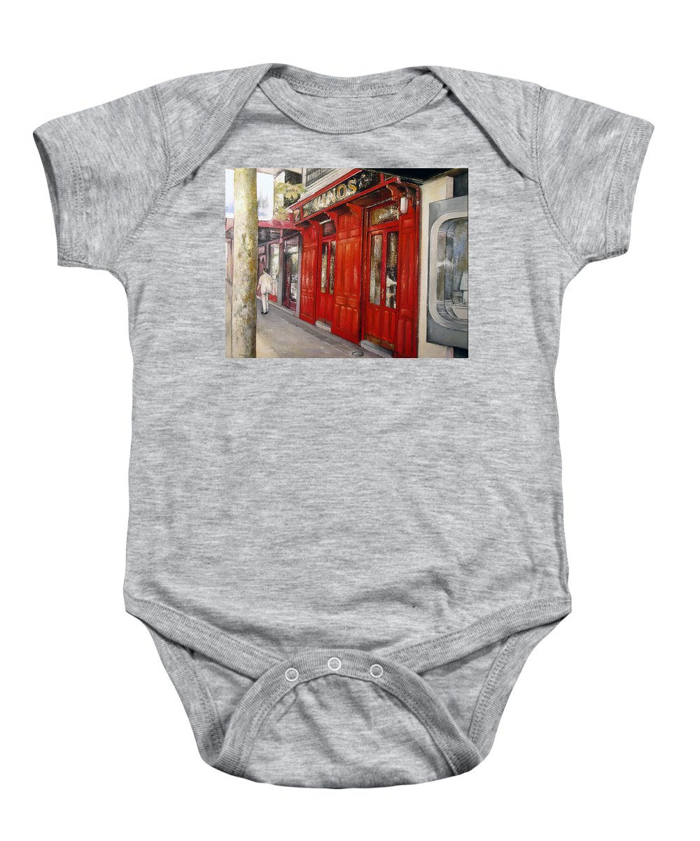 Urban Baby Onesie featuring the painting Vinos Sagasta by Tomas Castano