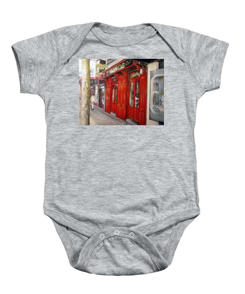 Urban Baby Onesie featuring the painting Vinos Sagasta by Tomas Castano
