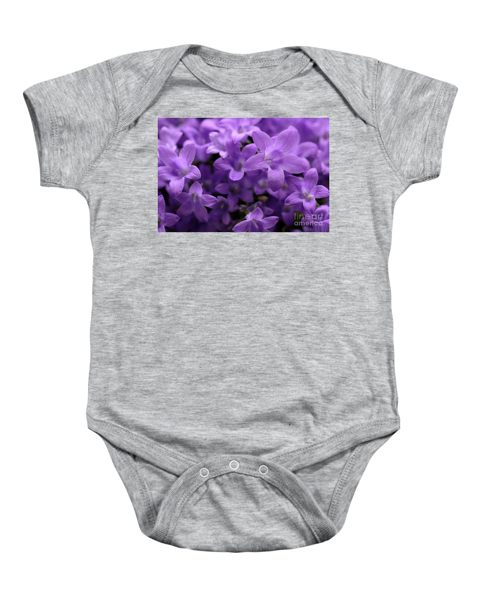 Horizontal Baby Onesie featuring the photograph Violet Dream IIi by Stefania Levi