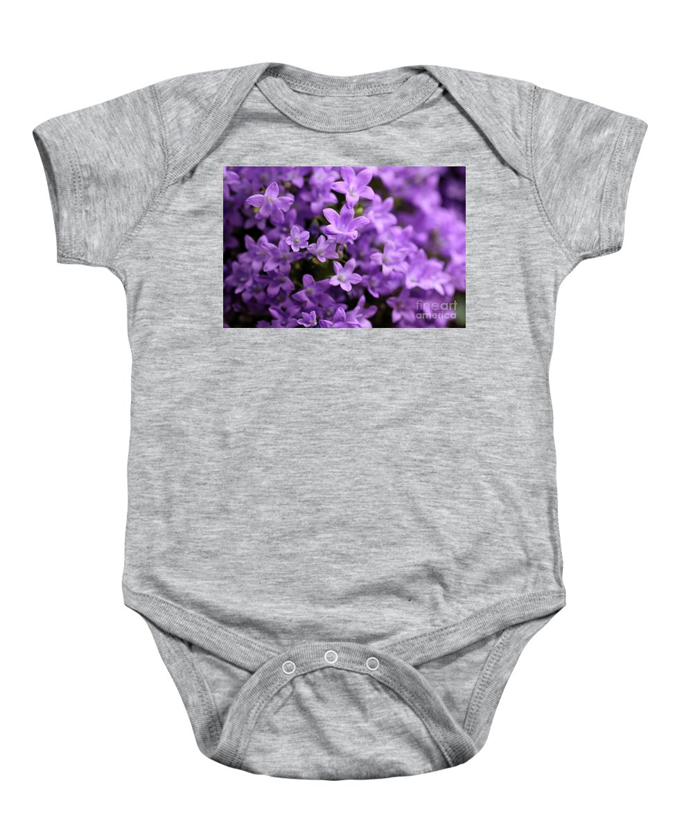 Horizontal Baby Onesie featuring the photograph Violet Dream Vi by Stefania Levi