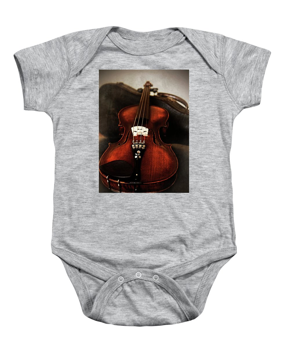 Violin Baby Onesie featuring the photograph Violin by Jayne Gohr