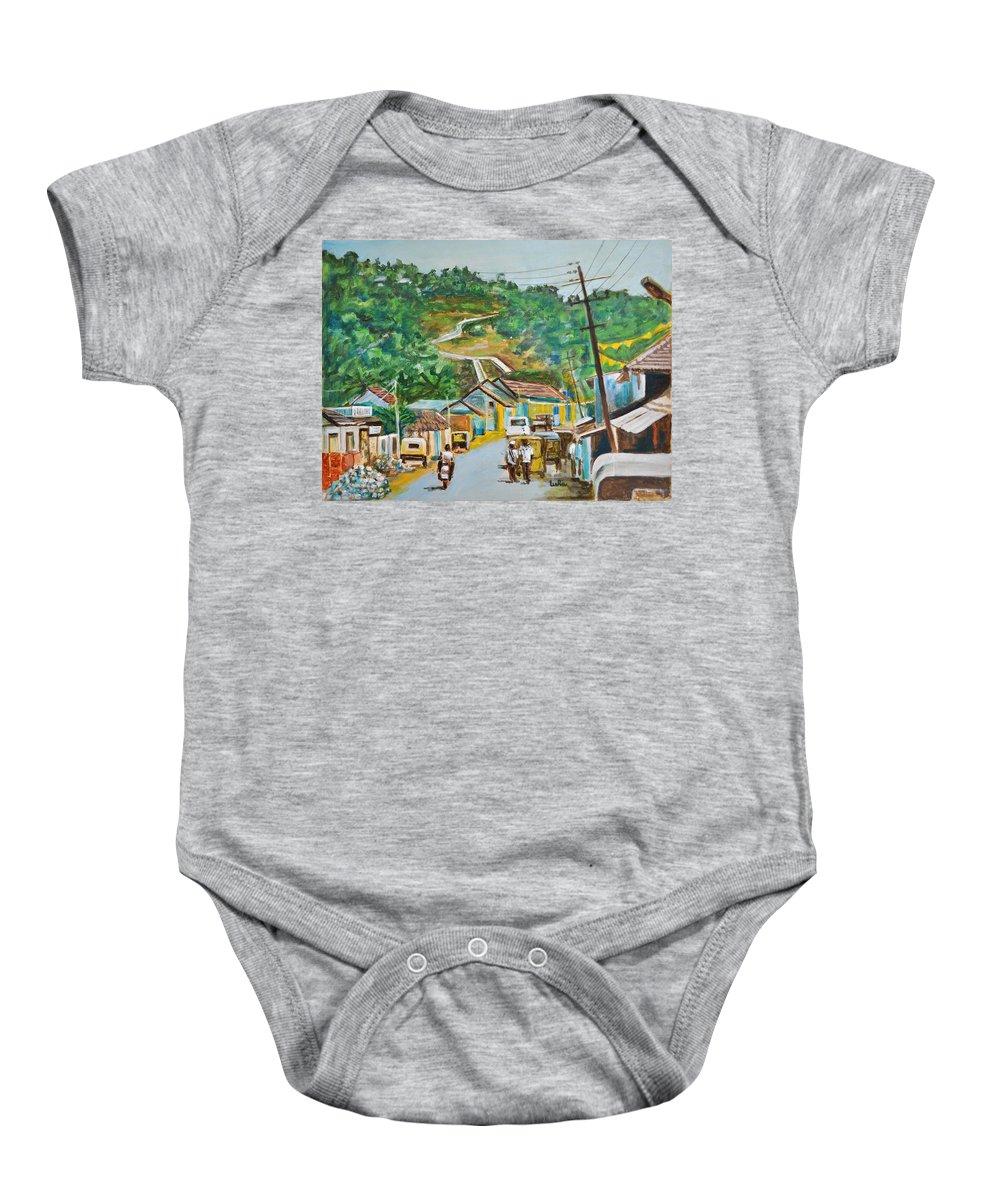 Virajpet Baby Onesie featuring the painting Virajpet Town by Usha Shantharam
