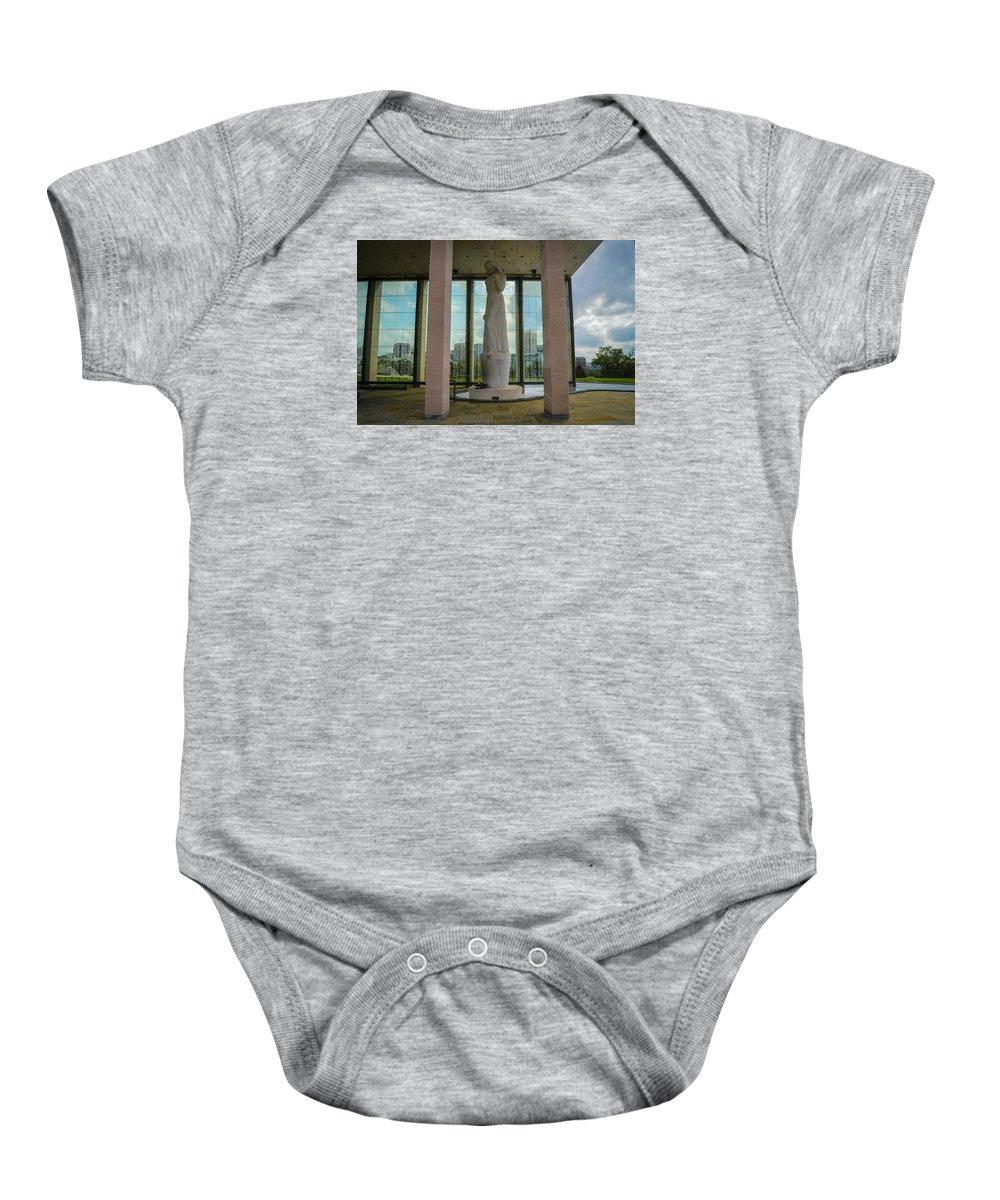 Richmond Baby Onesie featuring the photograph Virginia War Memorial by Aaron Dishner