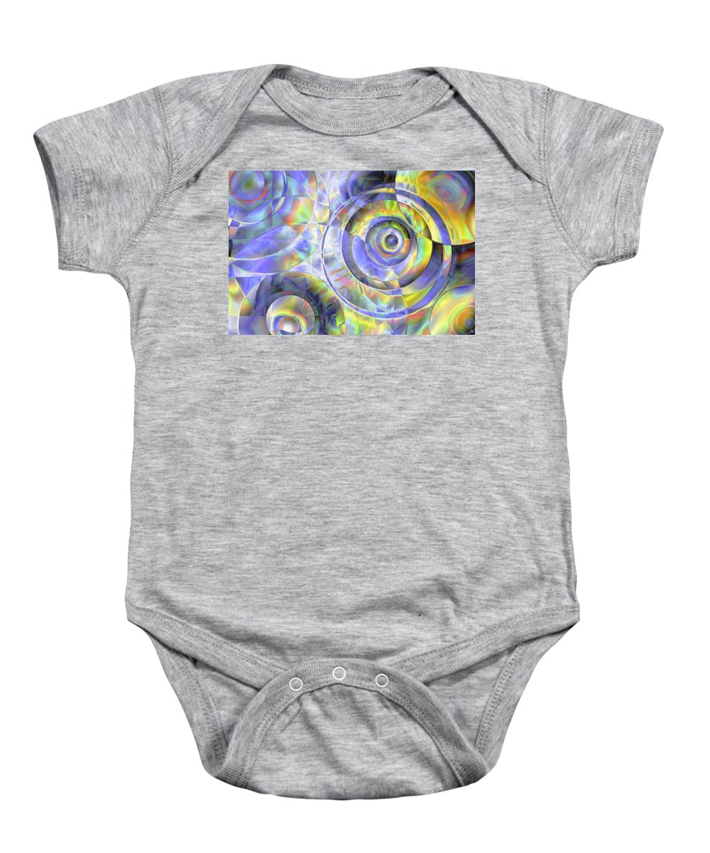 Colors Baby Onesie featuring the digital art Vision 37 by Jacques Raffin