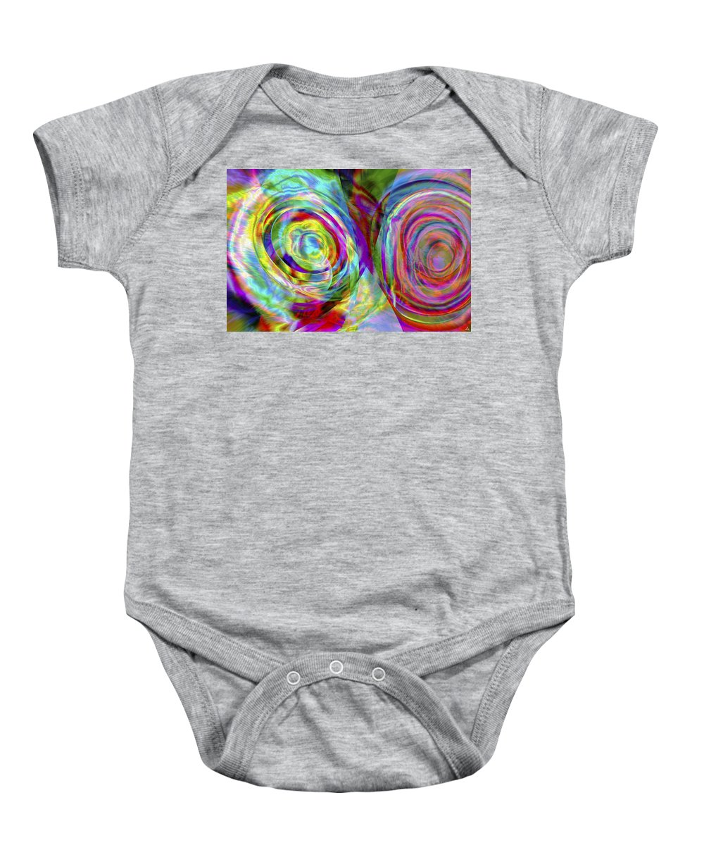 Crazy Baby Onesie featuring the digital art Vision 44 by Jacques Raffin