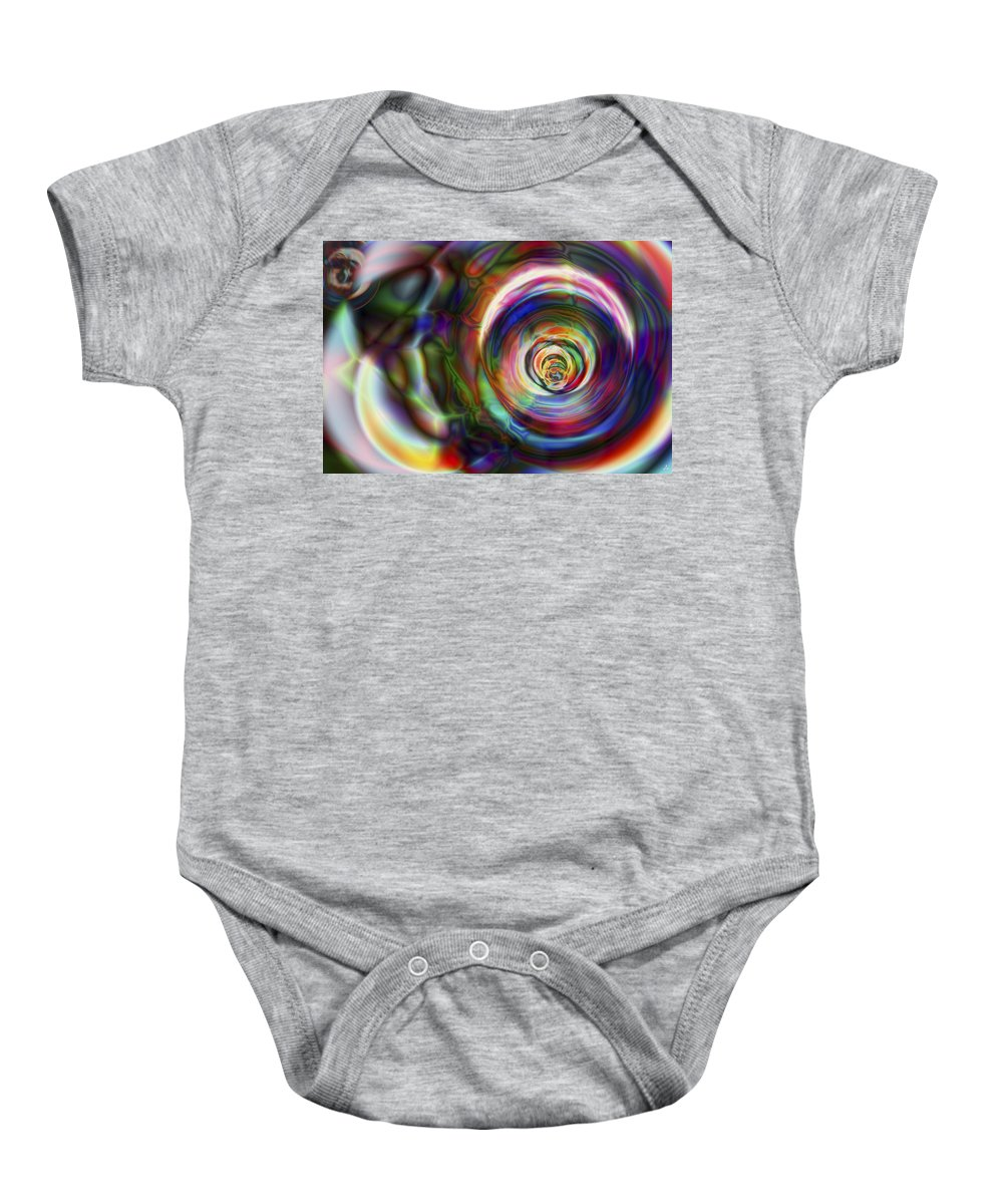 Crazy Baby Onesie featuring the digital art Vision 8 by Jacques Raffin