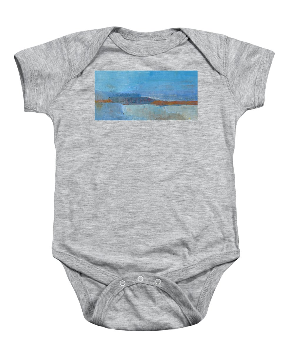 Abstract Baby Onesie featuring the painting Vision by Habib Ayat