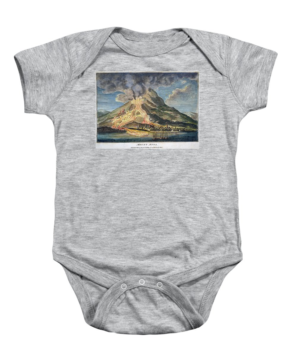 1783 Baby Onesie featuring the photograph Volcano: Mt. Etna by Granger