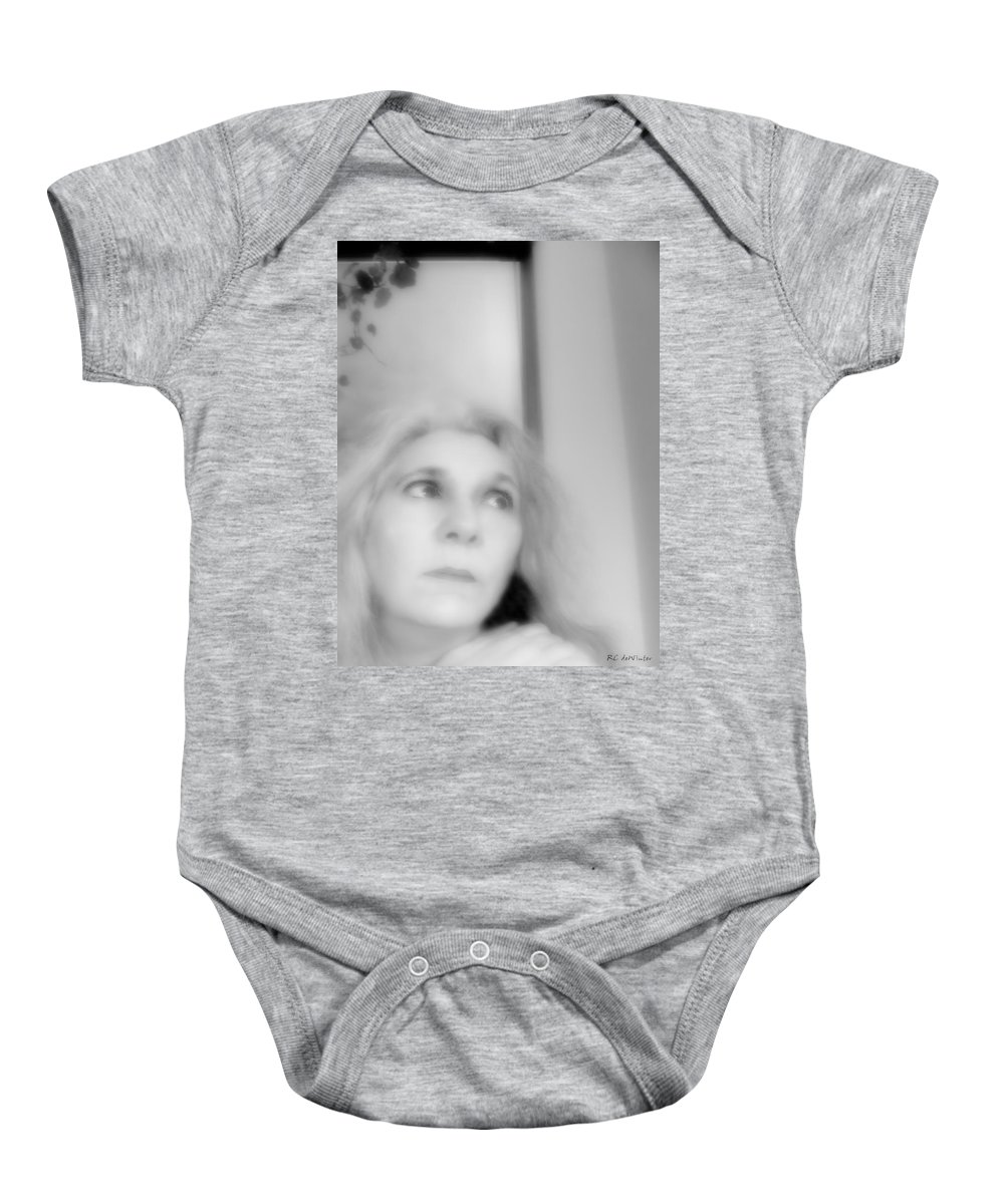 Black And White Baby Onesie featuring the photograph Waiting For Salvation by RC DeWinter