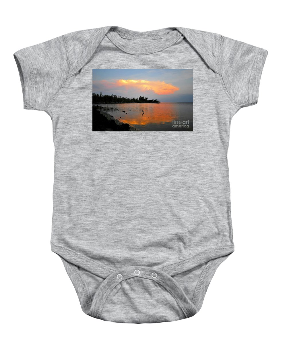Bird.fine Art Baby Onesie featuring the photograph Waiting In The Gulf by David Lee Thompson
