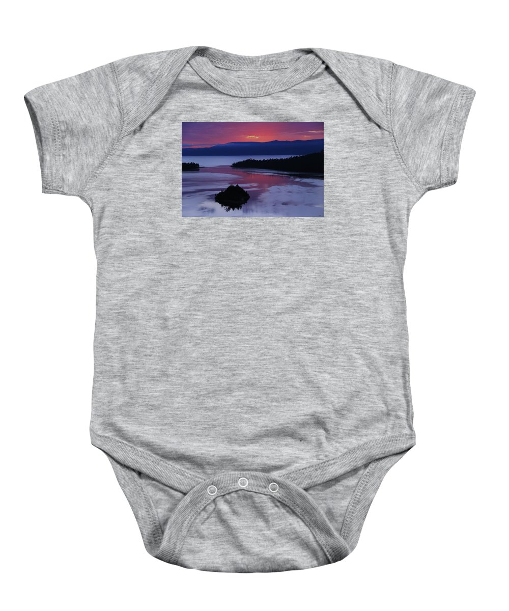 Lake Tahoe Baby Onesie featuring the photograph Wake Up In Lake Tahoe by Sean Sarsfield