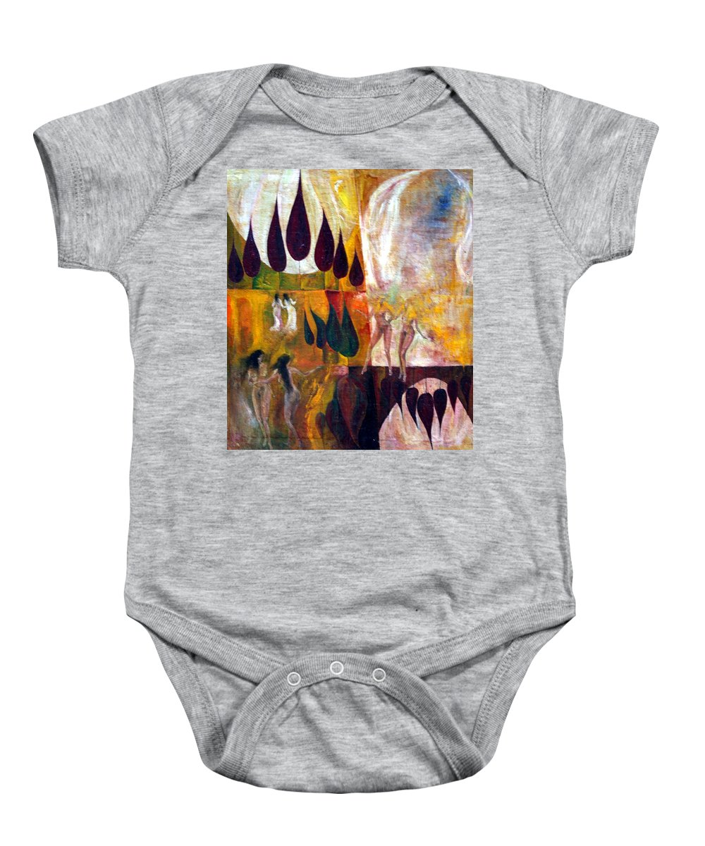 Colour Baby Onesie featuring the painting Walk by Wojtek Kowalski