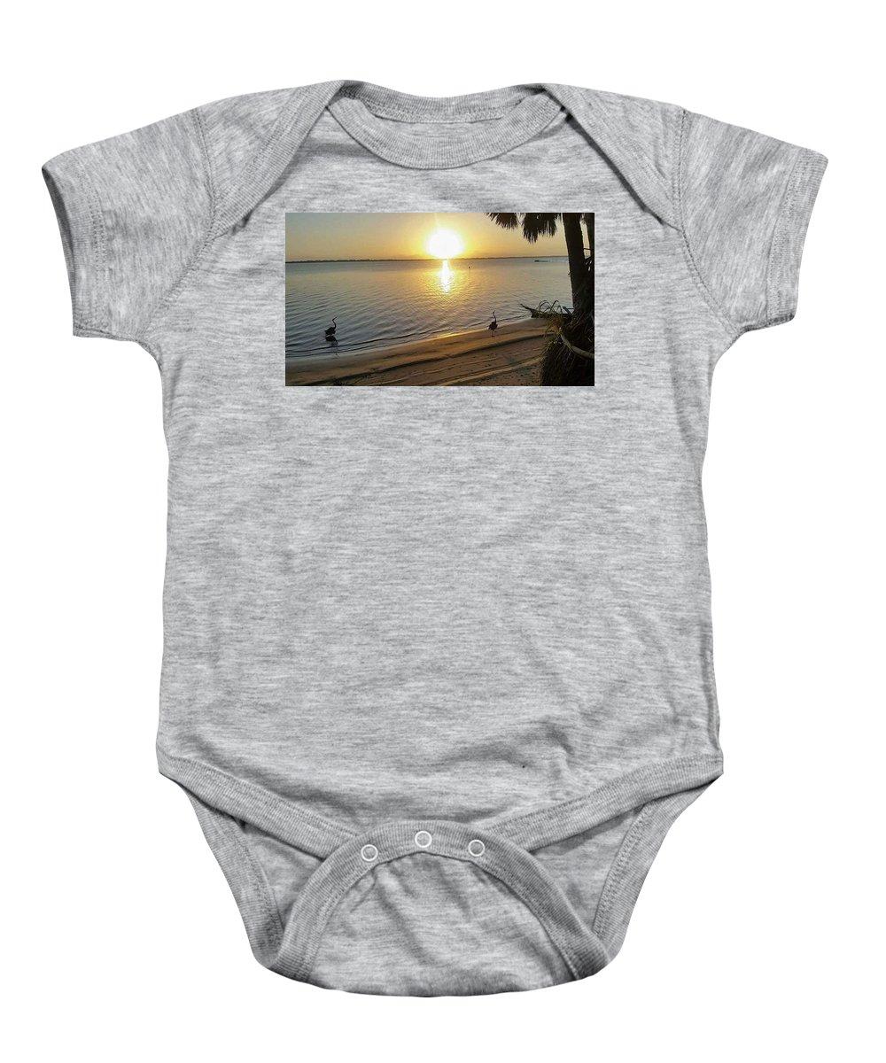 Sunrise Baby Onesie featuring the digital art Walking On Sunshine by Jim Ferro