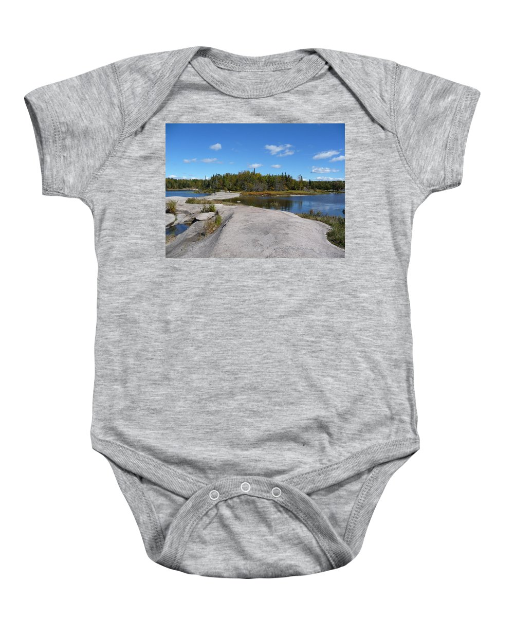 Rocks Baby Onesie featuring the photograph Walking On The Whale's Back by Ruth Kamenev