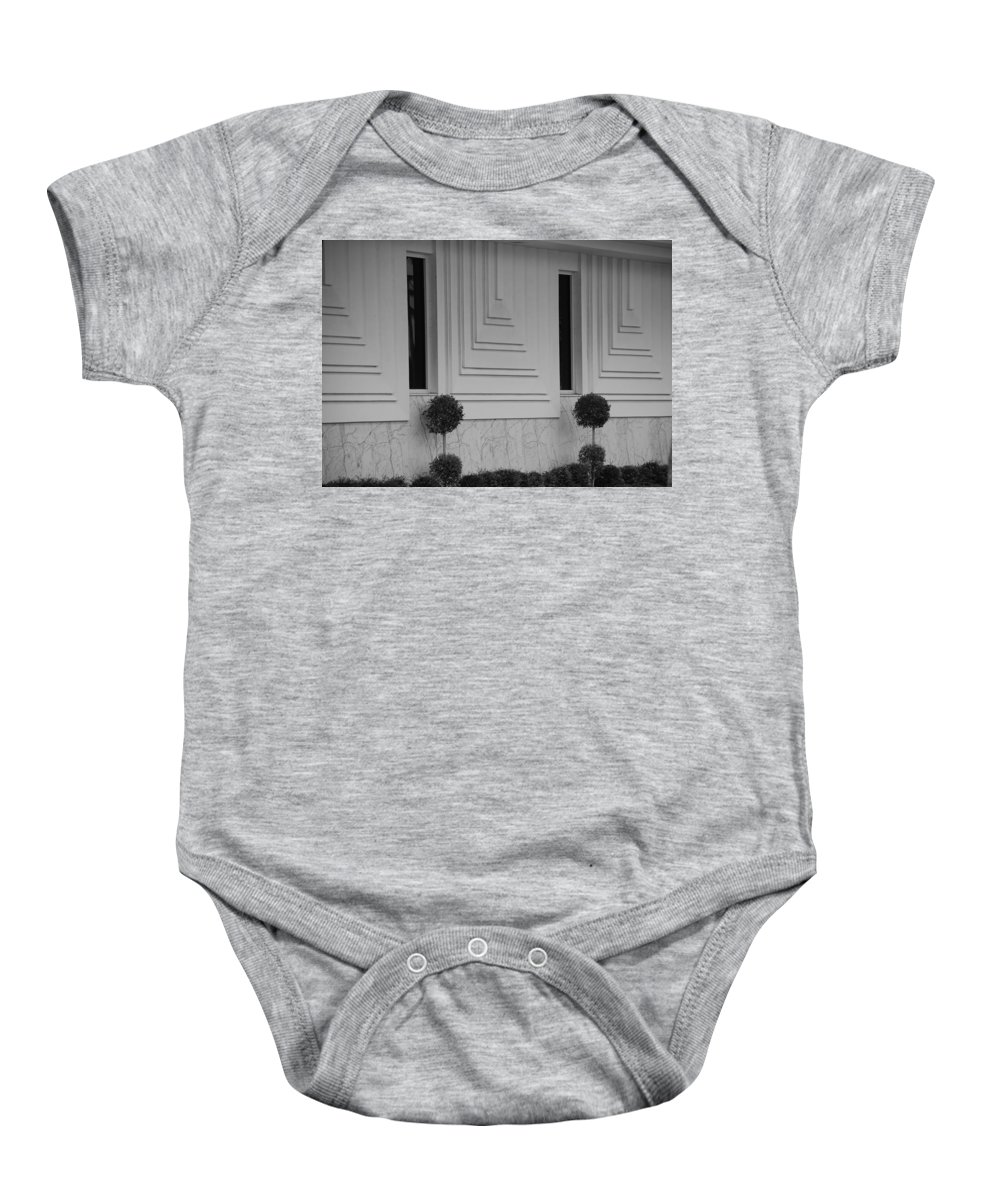 Architecture Baby Onesie featuring the photograph Walls And Windows by Rob Hans