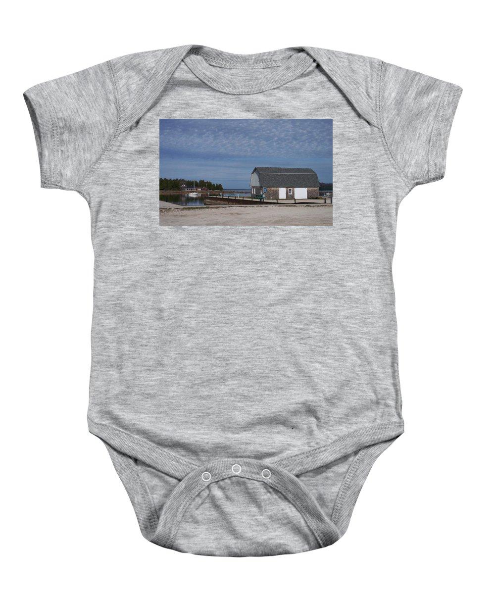 Washington Island Baby Onesie featuring the photograph Washington Island Harbor 1 by Anita Burgermeister