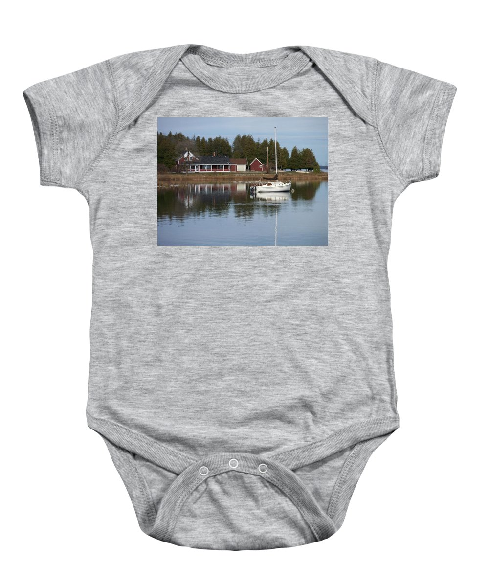 Washington Island Baby Onesie featuring the photograph Washington Island Harbor 4 by Anita Burgermeister