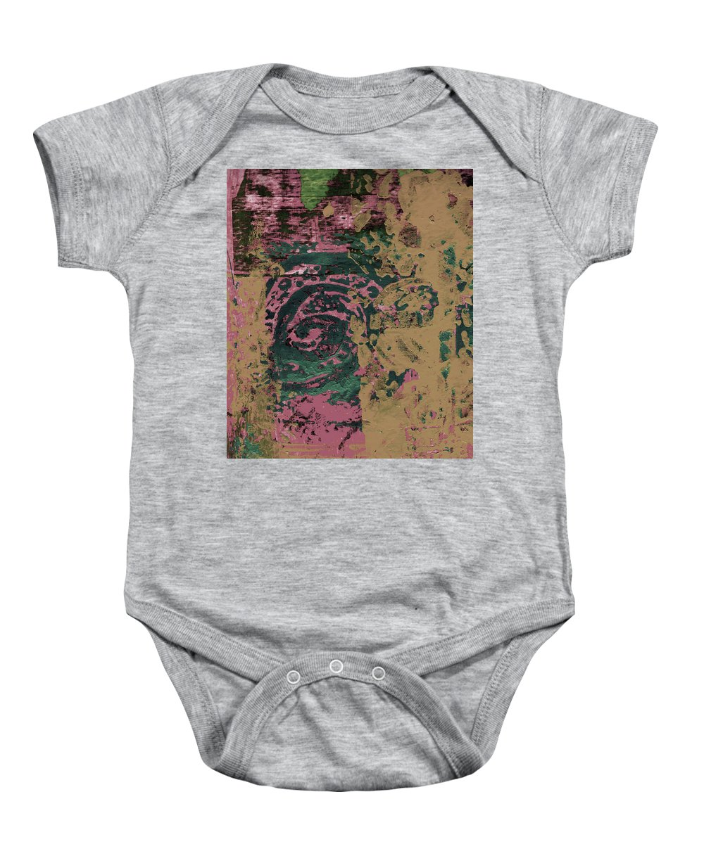 Abstract Baby Onesie featuring the painting Watching by Wayne Potrafka