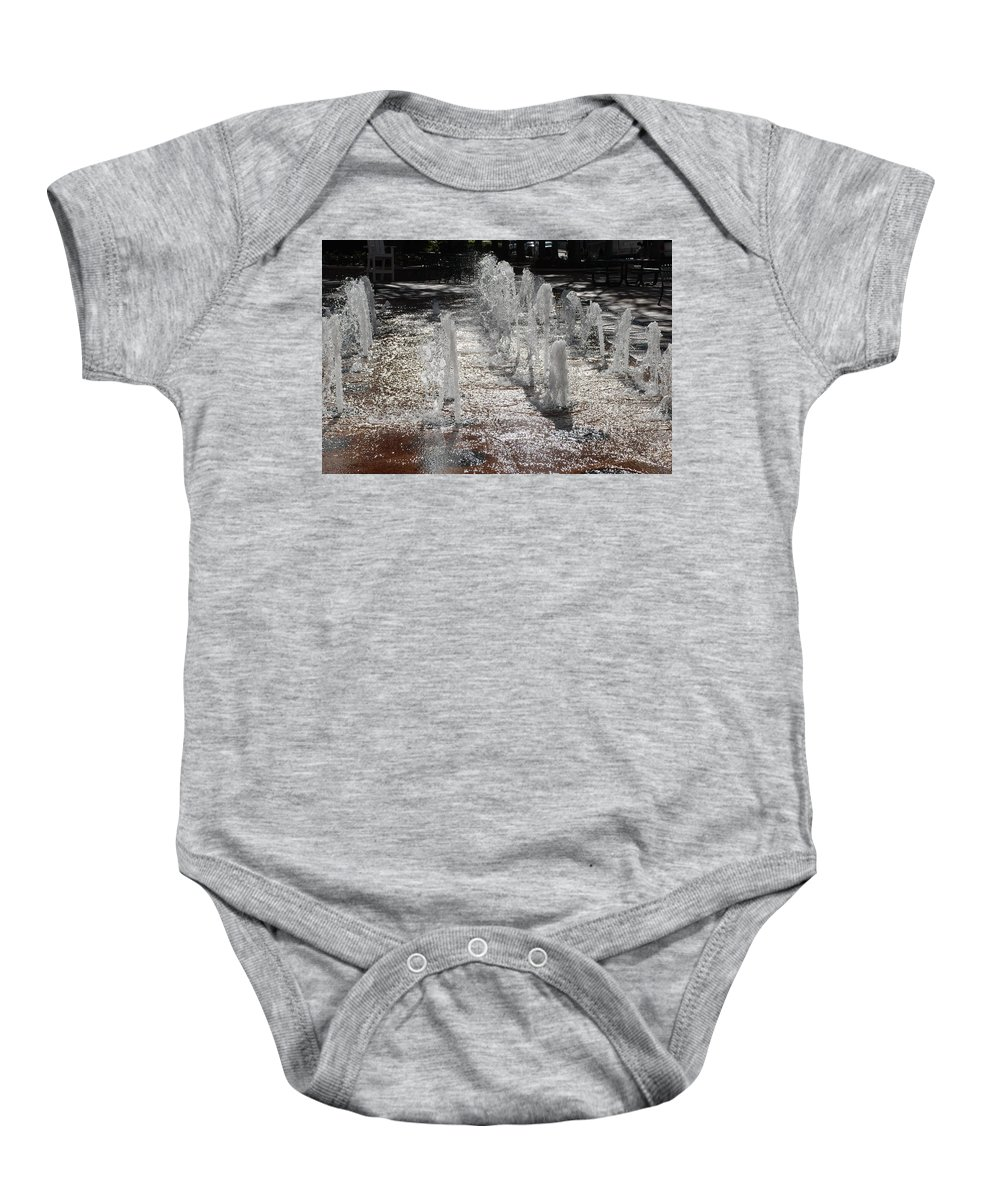 Water Baby Onesie featuring the photograph Water Fountain by Rob Hans