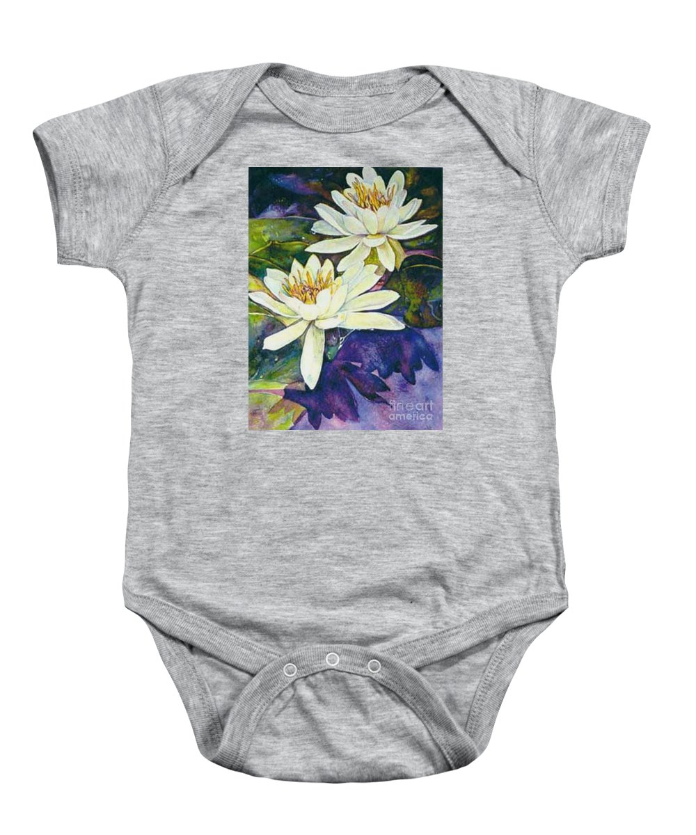 Flower Baby Onesie featuring the painting Water Lilies by Norma Boeckler