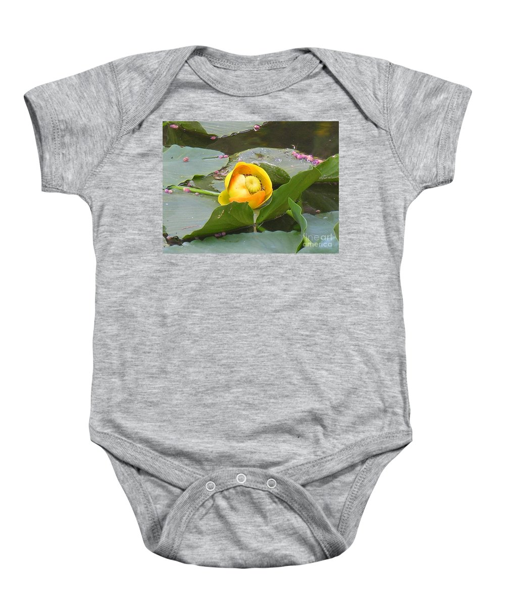 Water Baby Onesie featuring the photograph Water Lilly by Diane Greco-Lesser