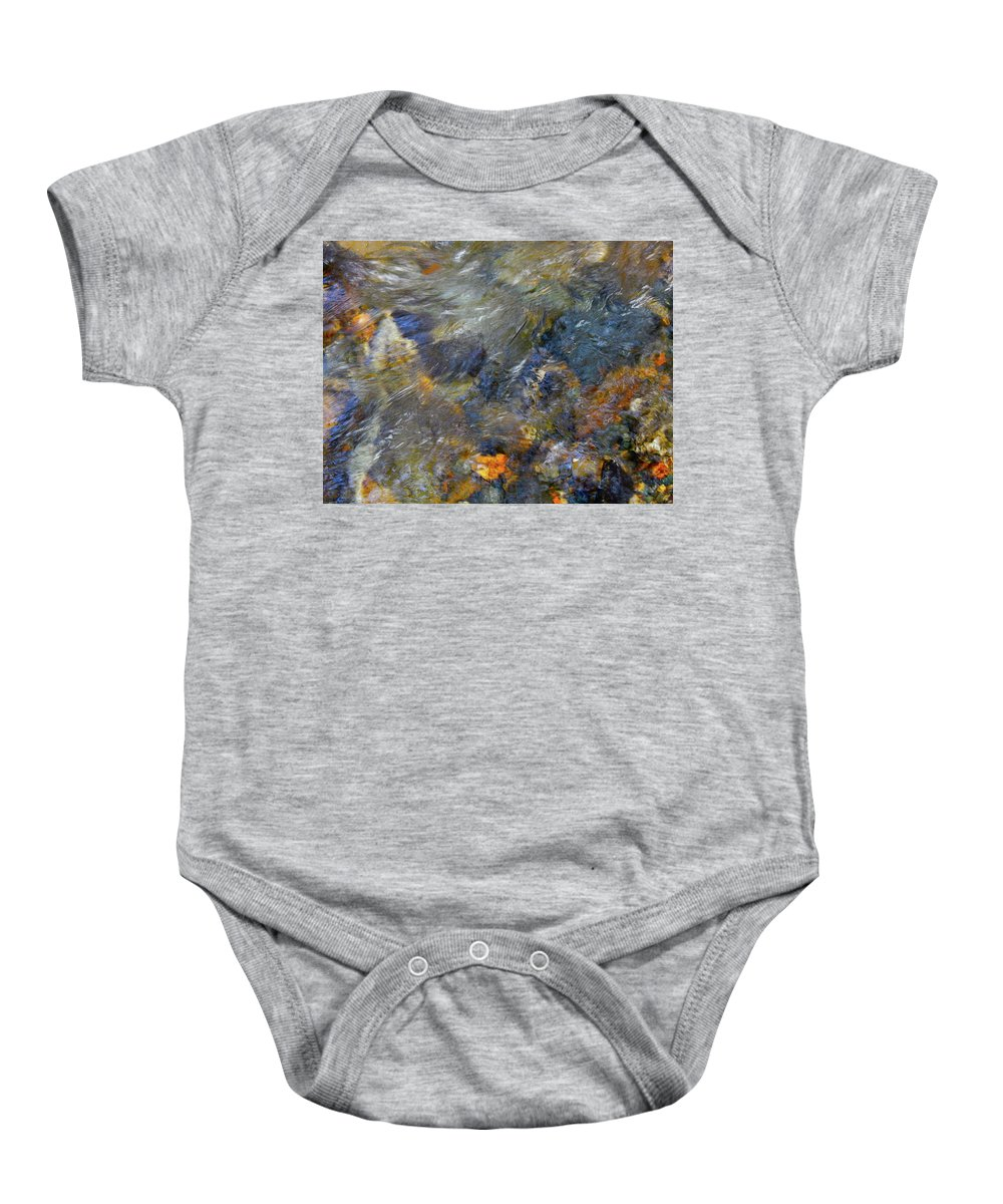 Colorful Water Art Baby Onesie featuring the photograph Water Whimsy 174 by George Ramos
