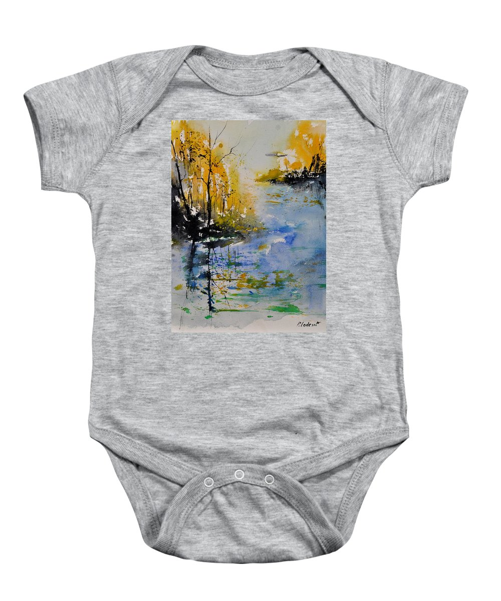 Pond Baby Onesie featuring the painting Watercolor 010101 by Pol Ledent