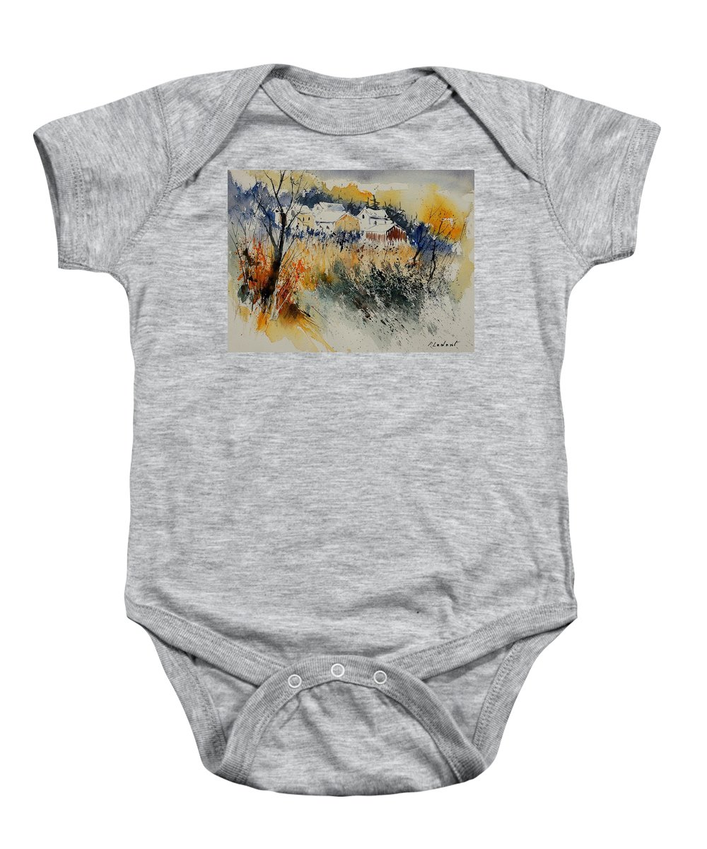 Landscape Baby Onesie featuring the painting Watercolor 011071 by Pol Ledent