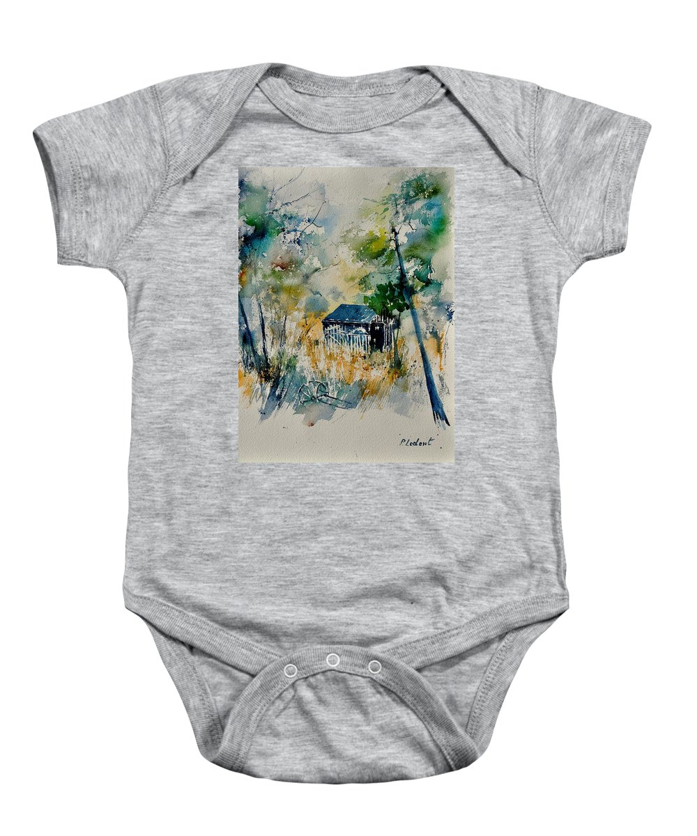 Landscape Baby Onesie featuring the painting Watercolor 015042 by Pol Ledent