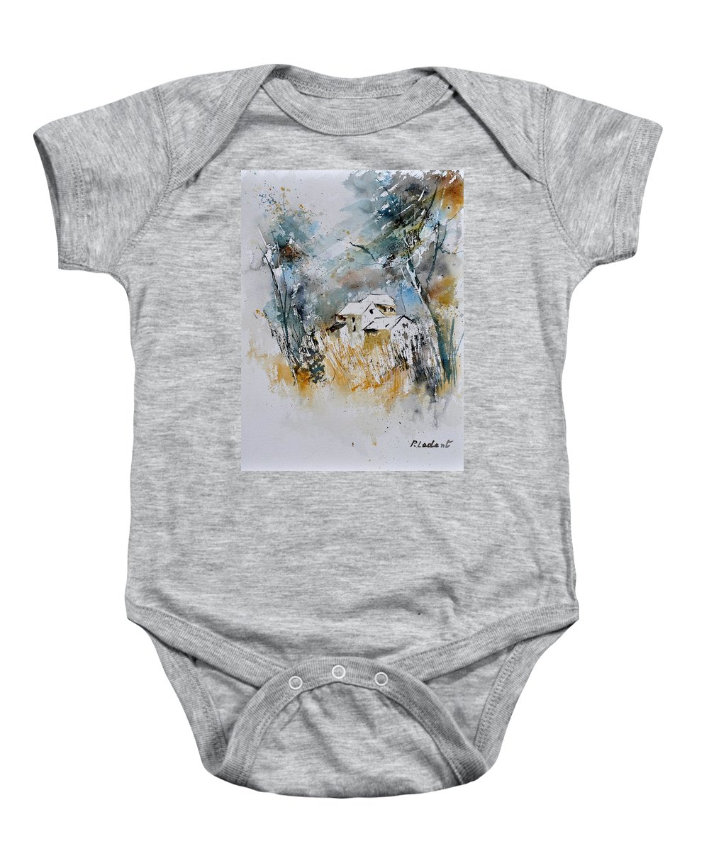Landscape Baby Onesie featuring the painting Watercolor 015060 by Pol Ledent