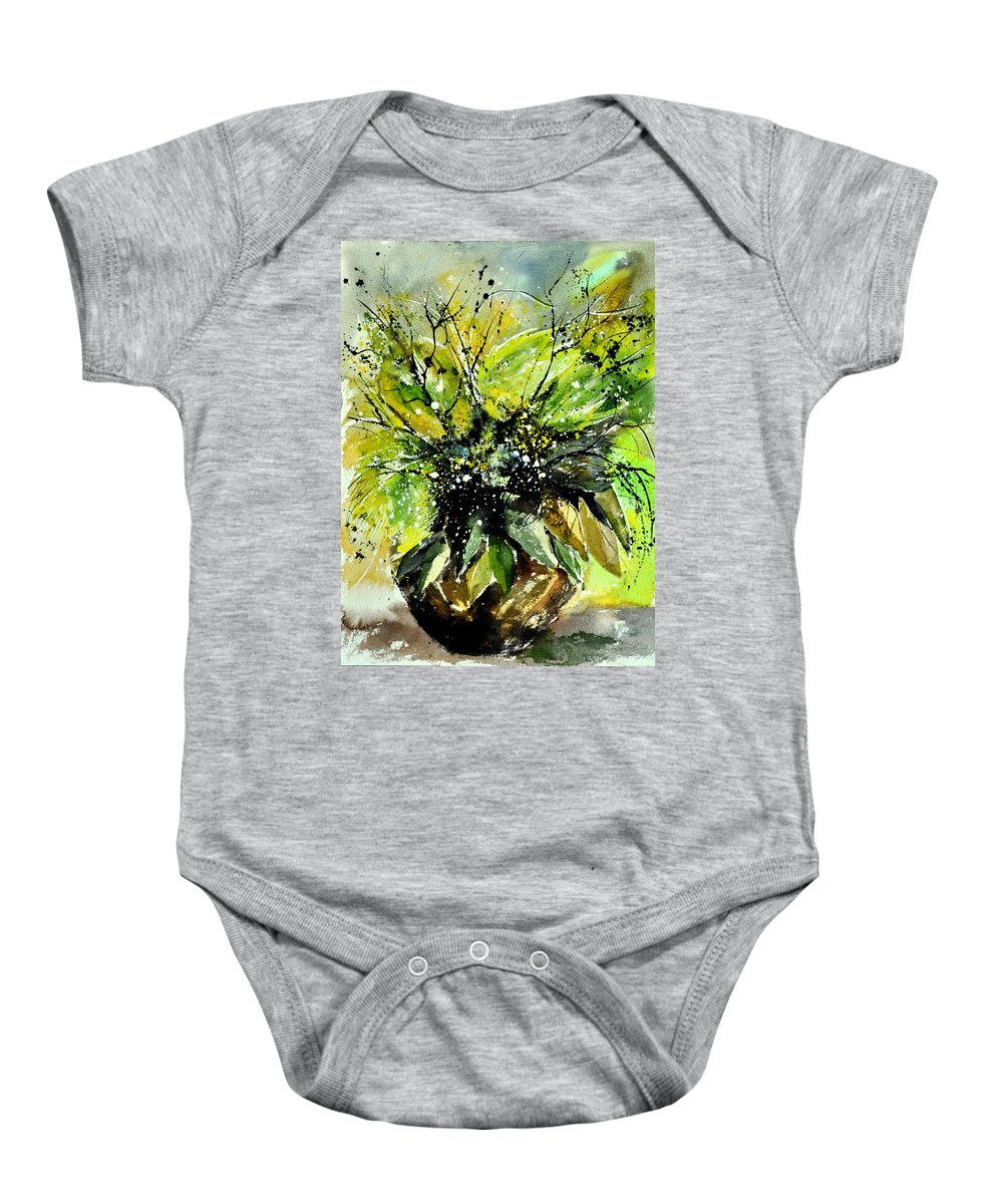 Flowers Baby Onesie featuring the painting Watercolor 016070 by Pol Ledent