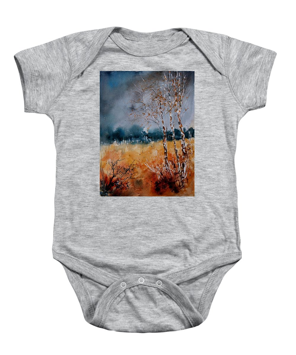 Tree Baby Onesie featuring the painting Watercolor 030308 by Pol Ledent