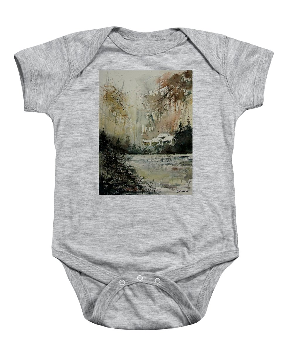Landscape Baby Onesie featuring the painting Watercolor 070608 by Pol Ledent