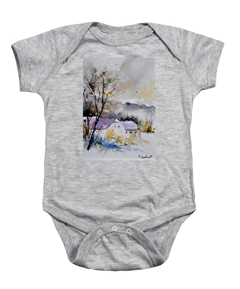 Landscape Baby Onesie featuring the painting Watercolor 112012 by Pol Ledent