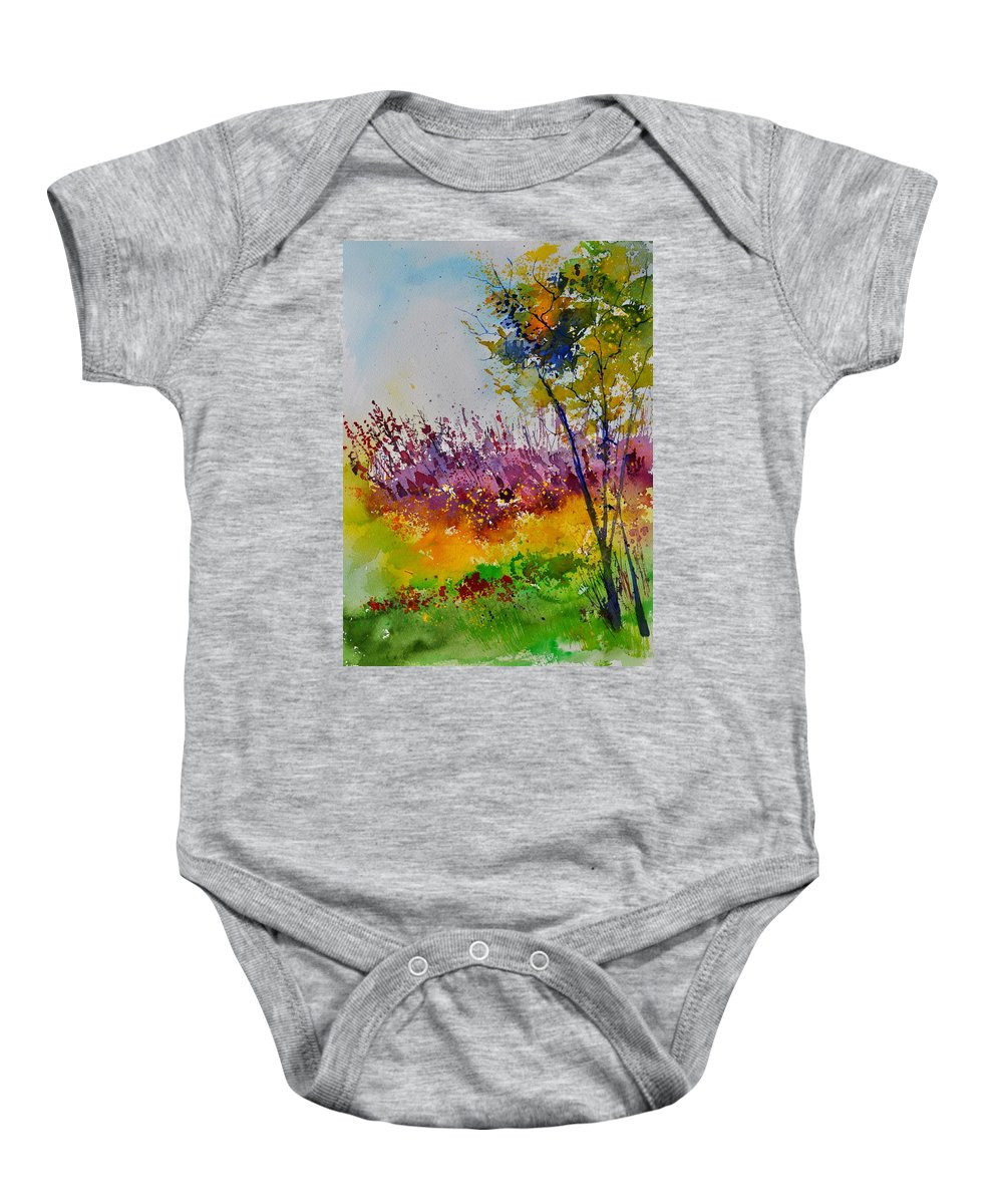 Landscape Baby Onesie featuring the painting Watercolor 119060 by Pol Ledent