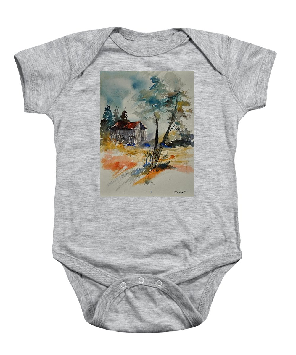 Landscape Baby Onesie featuring the painting Watercolor 119070 by Pol Ledent