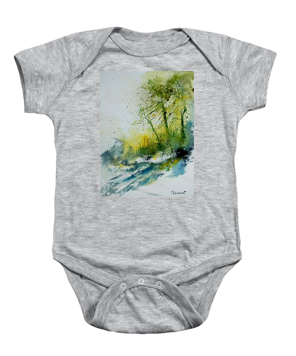 River Baby Onesie featuring the painting Watercolor 181207 by Pol Ledent