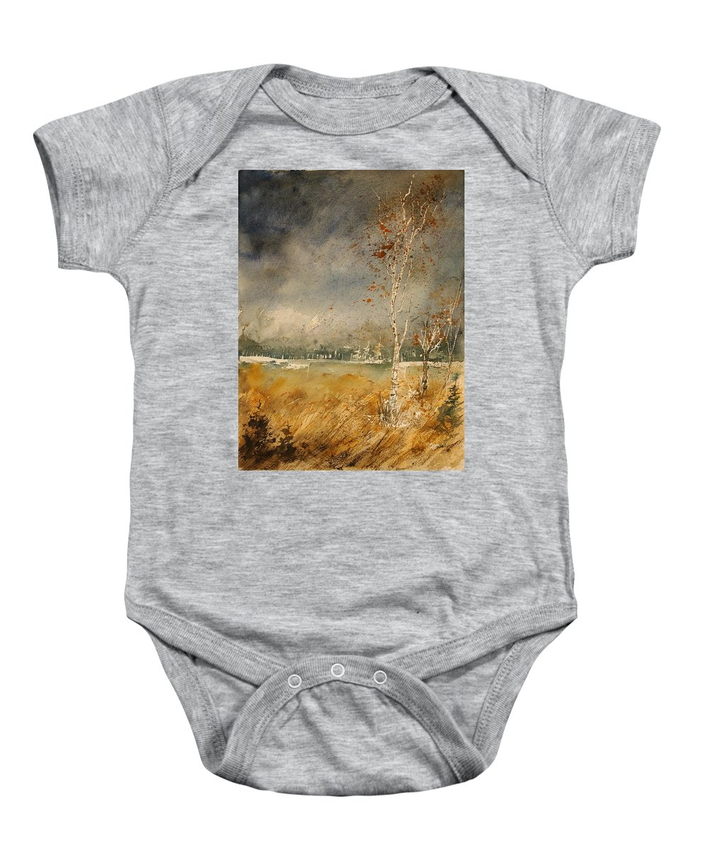 Tree Baby Onesie featuring the painting Watercolor 190307 by Pol Ledent