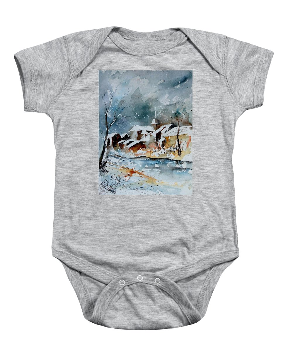 Winter Baby Onesie featuring the painting Watercolor 190607 by Pol Ledent