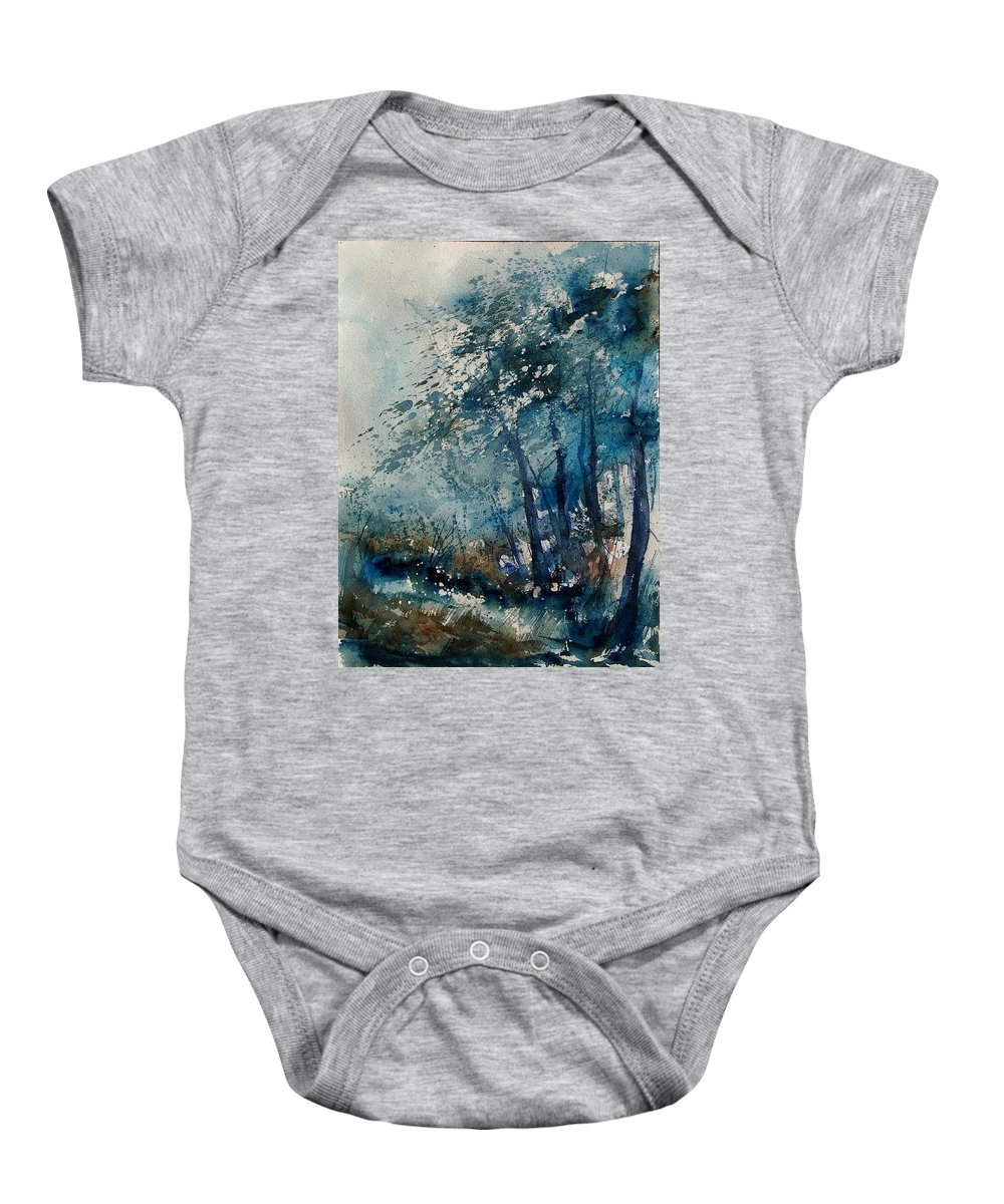 Winter Baby Onesie featuring the painting Watercolor 220907 by Pol Ledent