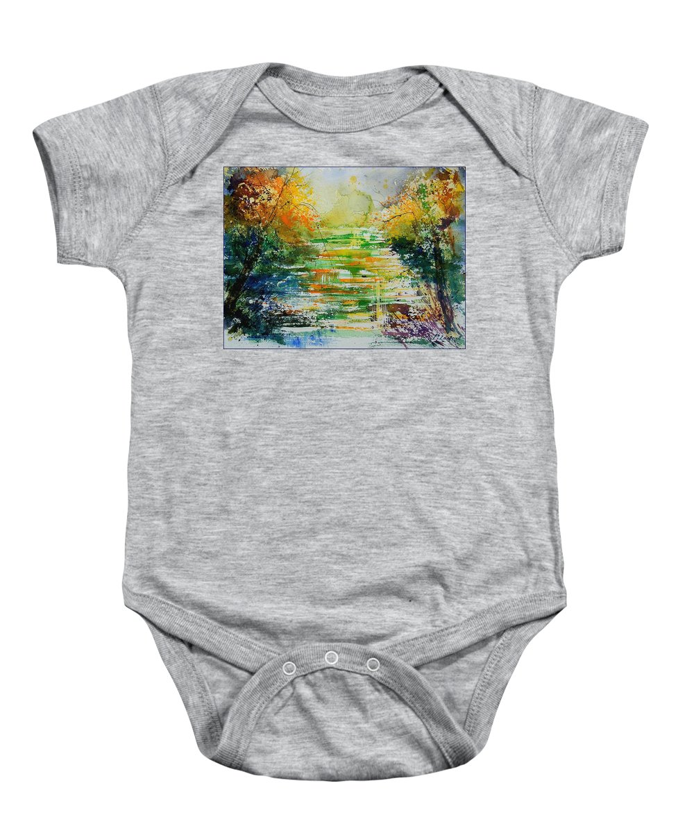 Water Baby Onesie featuring the painting Watercolor 230507 by Pol Ledent