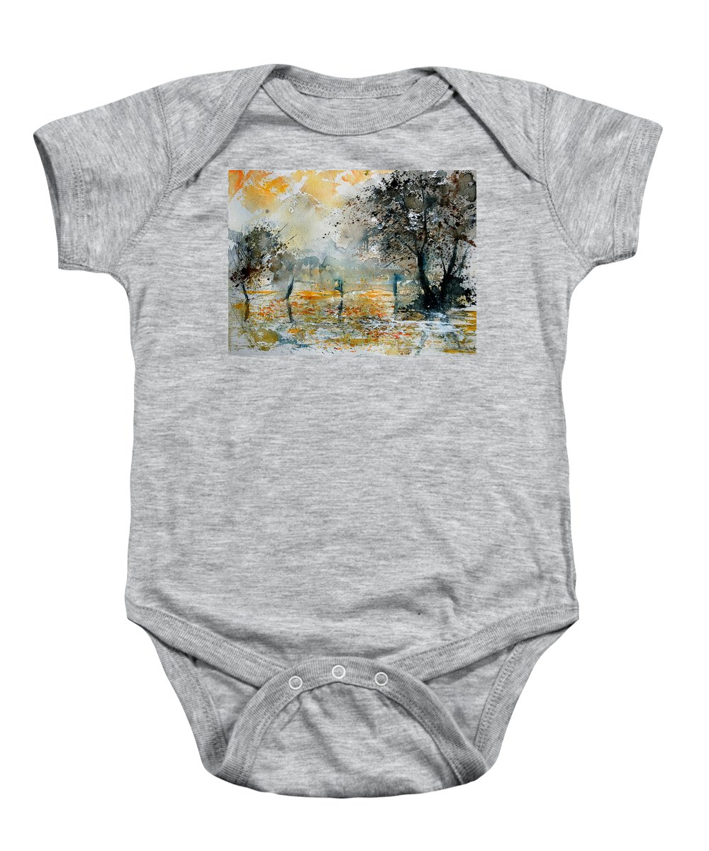 Water Baby Onesie featuring the painting Watercolor 261006 by Pol Ledent