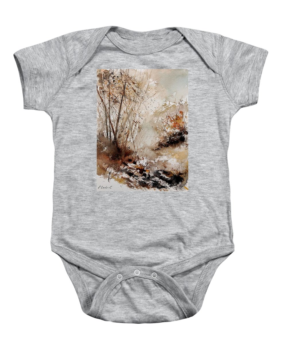 Tree Baby Onesie featuring the painting Watercolor 290808 by Pol Ledent