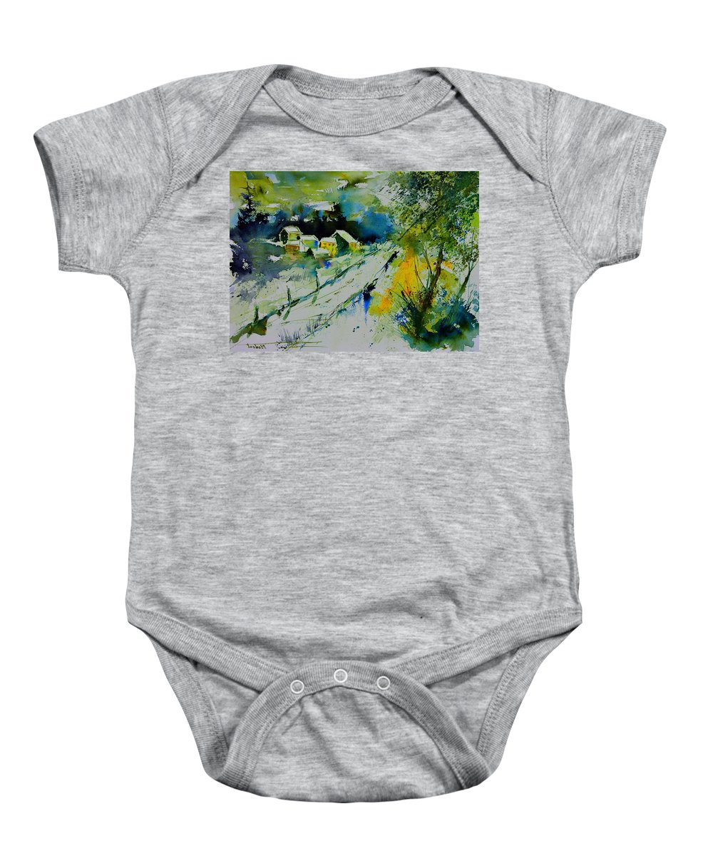 Landscape Baby Onesie featuring the painting Watercolor 309562 by Pol Ledent