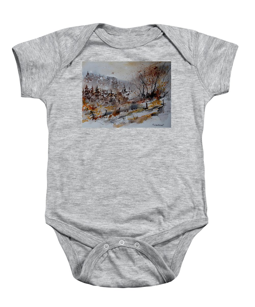 Landscape Baby Onesie featuring the painting Watercolor 900140 by Pol Ledent