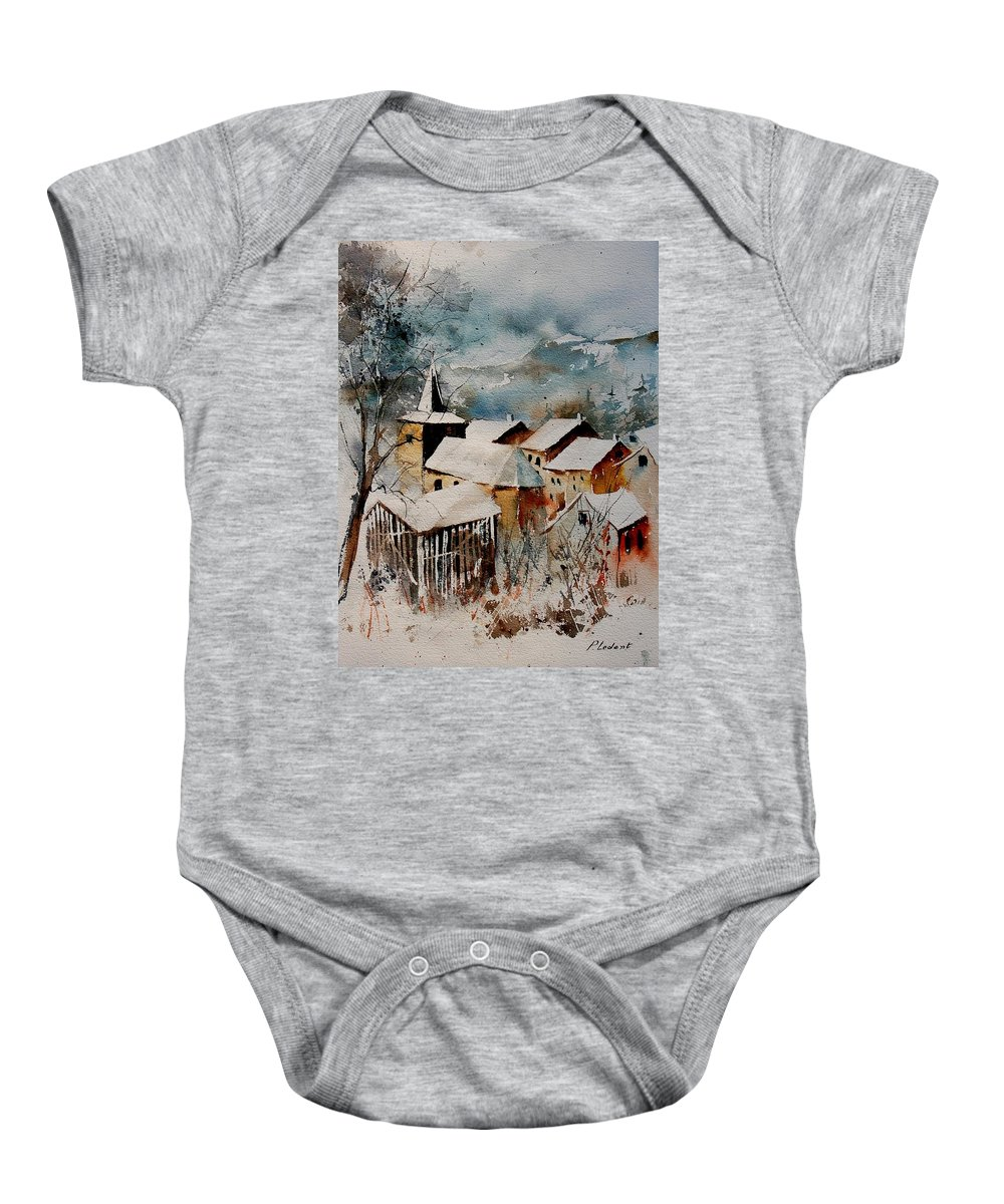 Winter Baby Onesie featuring the painting Watercolor 9040122 by Pol Ledent