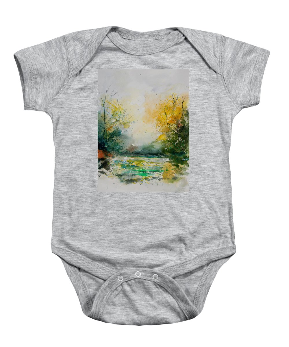 Water Baby Onesie featuring the painting Watercolor 905081 by Pol Ledent