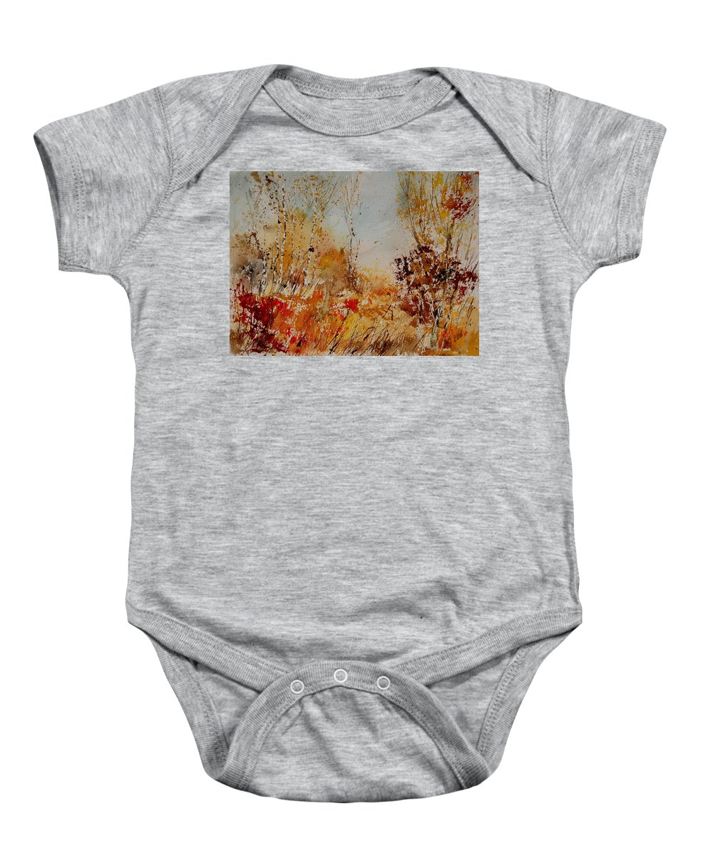 Tree Baby Onesie featuring the painting Watercolor 908031 by Pol Ledent