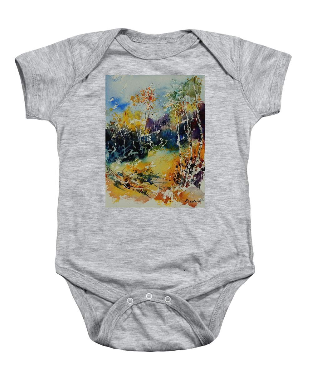 Tree Baby Onesie featuring the painting Watercolor 909052 by Pol Ledent