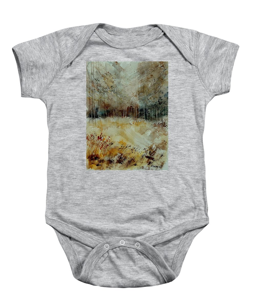 Tree Baby Onesie featuring the painting Watercolor 9090722 by Pol Ledent